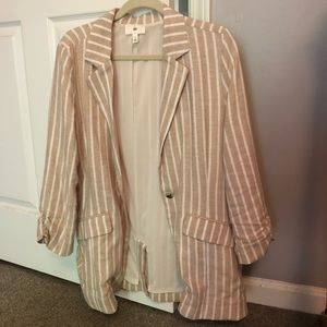 Striped Oversized Blazer